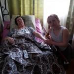 Помощь матери и больной бабушке ребёнка-инвалида